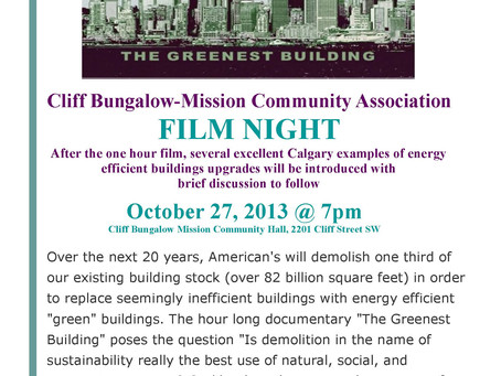 Special Film on Sunday, October 27, 2013 at 7 pm