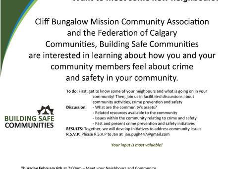Please RSVP for Building Safe Communities on Thursday, February 6, 2014