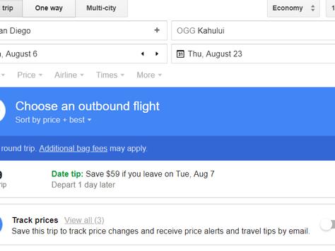 How Google Flight Tracking Saved Me $140