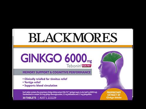 Ginkgo 6000mg Tebonin 30 Tablets