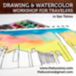 Drawing andWatercolor Workshop in San Telmo Mariano Lucano