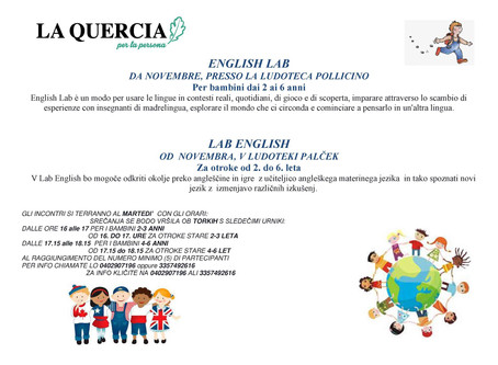 Englih Lab per Mini Kids 2-3 anni e 4-6 anni