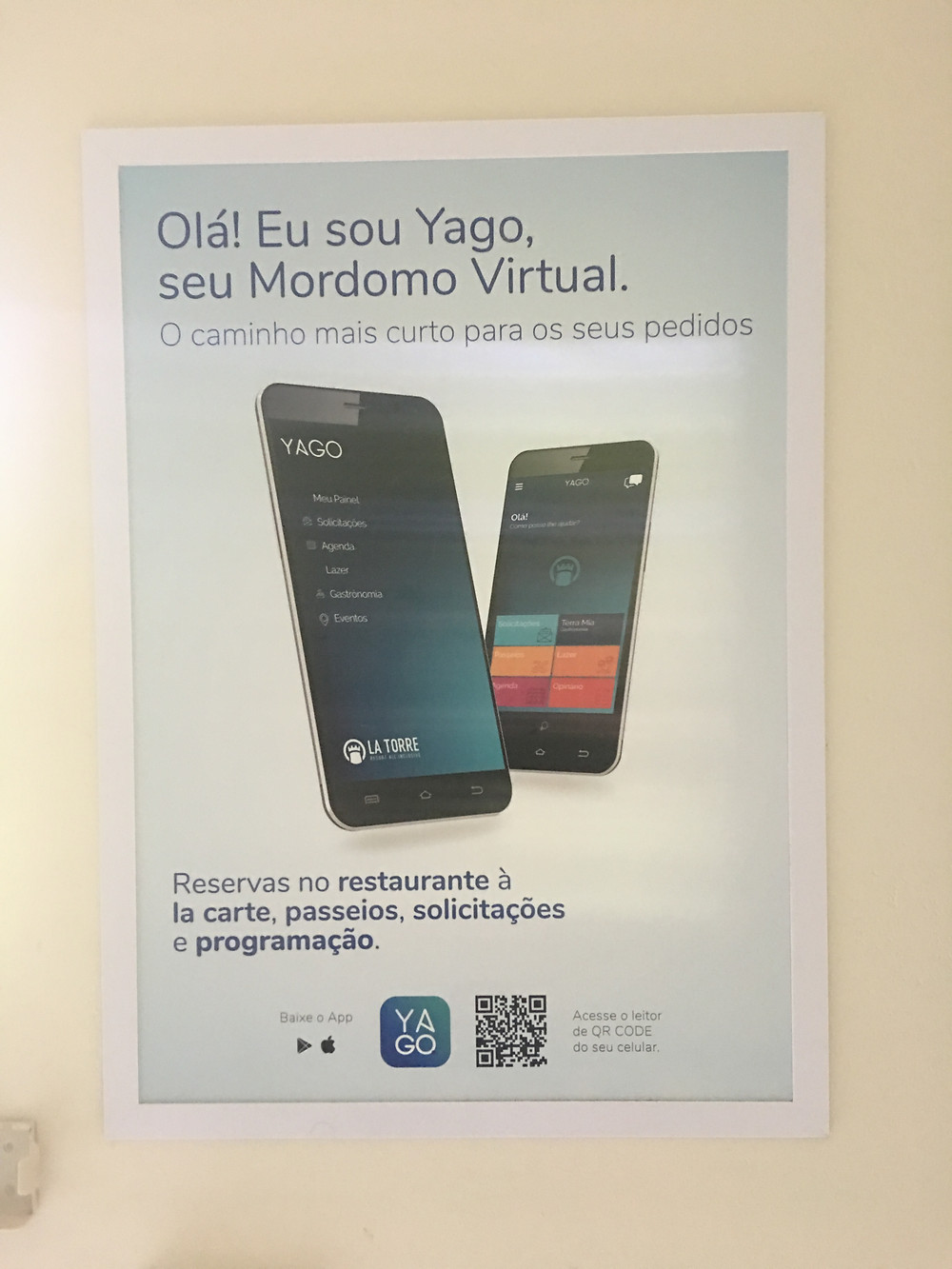 Mordomo virtual do La Torre Resort all inclucive em Porto Seguro, Bahia