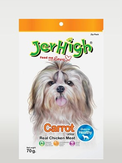 Jerhigh Carrot with Real Chicken Sticks Dog Treat 70 gms