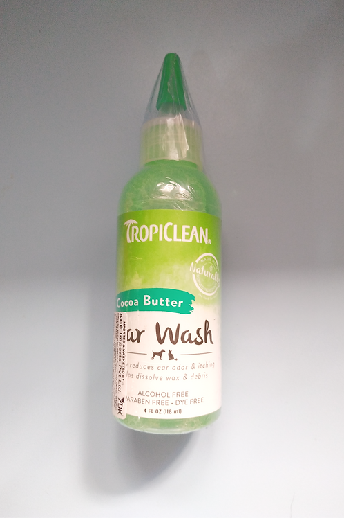 Tropiclean Alcohol-Free Ear Wash (Cocoa Butter) 118ml
