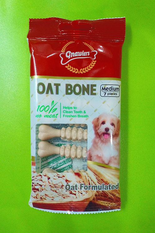 Gnawlers Oat Bone Medium Dog Treat | 7 Pcs