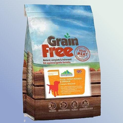 Goodness Duck Sweet Potato & Orange Grain Free Adult Dog Food 2 kg