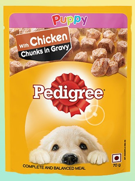 Pedigree Puppy Chicken Chunks in Gravy Pouch