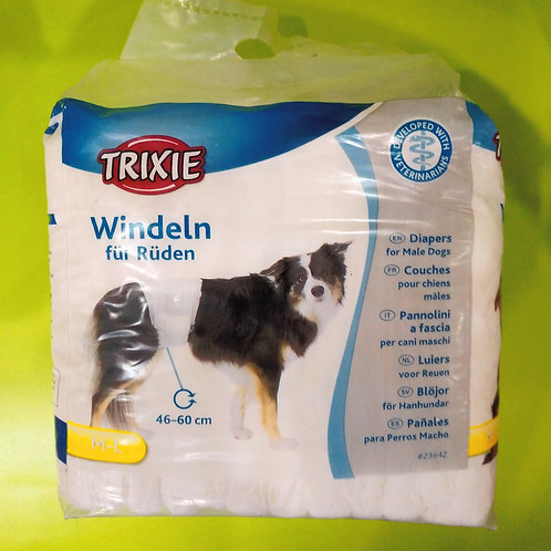 Trixie Male Diapers For Dogs (M-L)