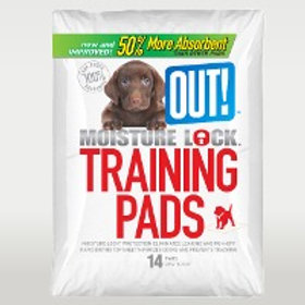 OUT Moisture Lock Training Pads 14 Pads Pack