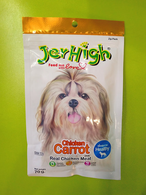 JerHigh Carrot Stick Dog Treat with Real Chicken Meat - 70 g