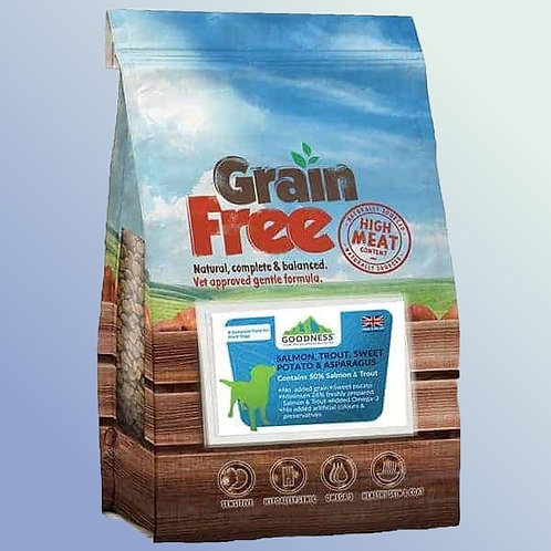 Goodness  Salmon, Trout With Sweet Potato & Asparagus Grain Free Dog Food 2 kg