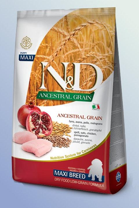 Farmina N&D Ancestral Grain Maxi Puppy  Low Grain Dog Food 2.5 kg