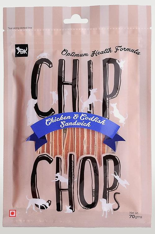 Chip Chop Chicken & Codfish Sandwich