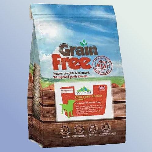 Goodness Pork, Sweet Potato Apple Grain Free Adult Dog Food 2kg