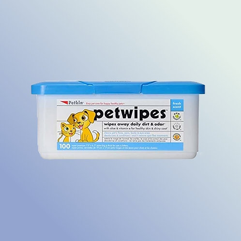 Petkin Petwipes For Pets 100 Wipes