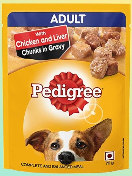 Pedigree Adult Chicken & Liver Chunk Flavor