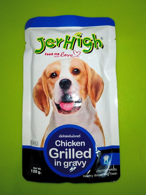 Jer High Chicken Grilled In Gravy For Dog 120 Gm