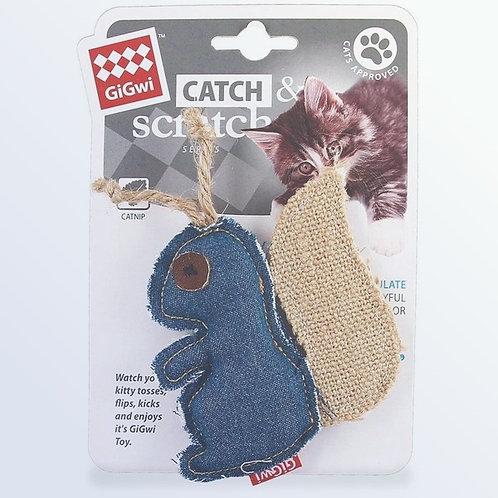 Gigwi Jean Squirrel Catch & Scratch Plush Toy