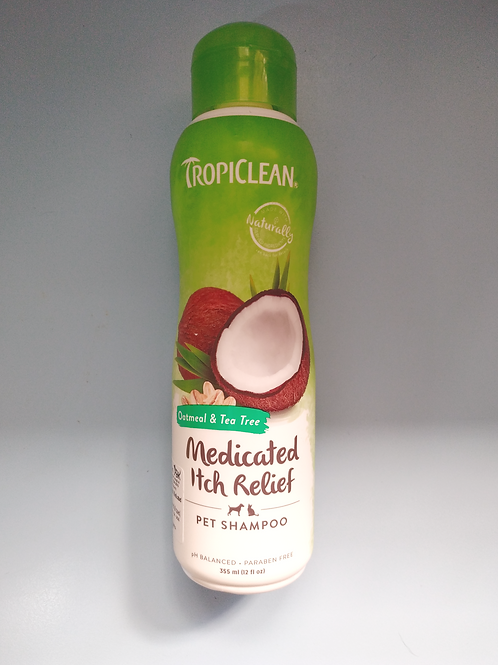 TropiClean Medicated Itch Relief Pet Shampoo (Oatmeal & Tea Tree) 355ml