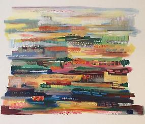 City Dreams, Acrylic on canvas, 70cm x 9