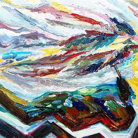 I Ching Hexagram 19, Acrylic on canvas,