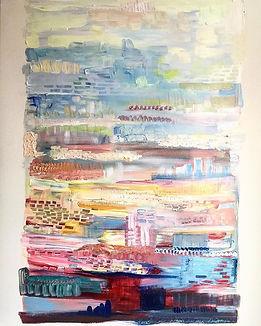 'Phantasy and Flow' Acrylic on canvas 10