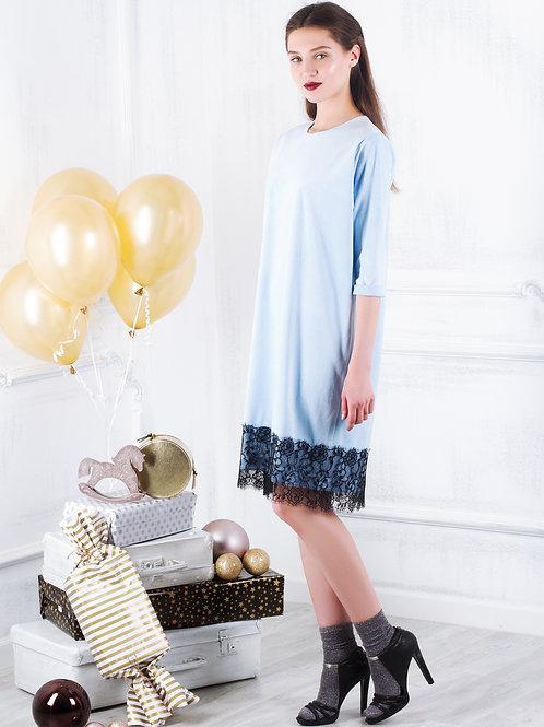 Платье с французским кружевом