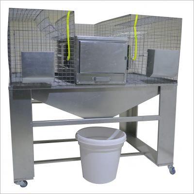 Клетка для кроликов с подставкой и конусным поддоном