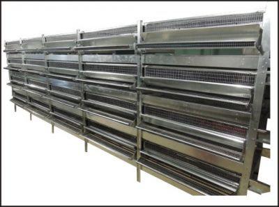 Клетка для перепелов на 1000 голов с механическо-ручной системой пометоудаления