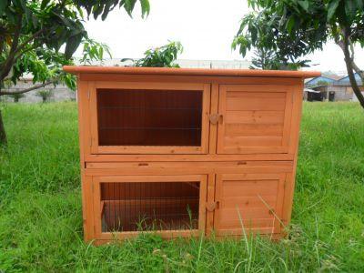 Деревянный домик для кроликов (1)