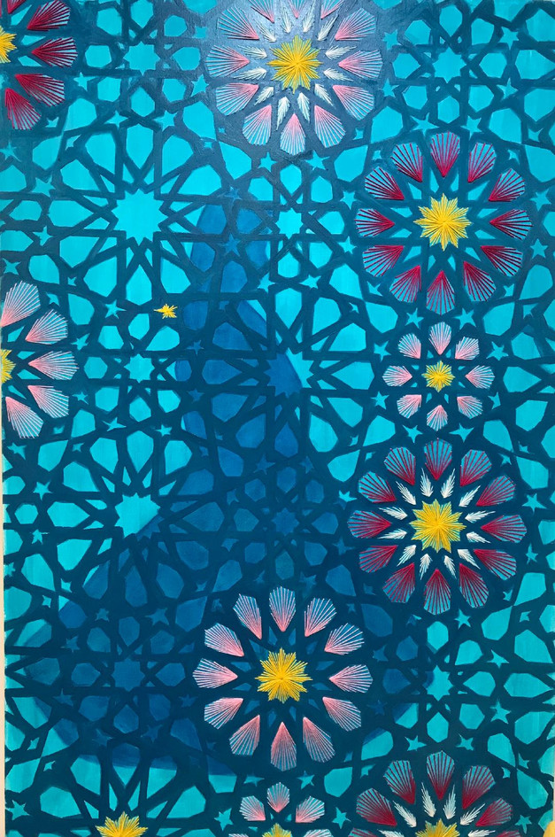Bakhtiari in contemporary vision,  Oil a
