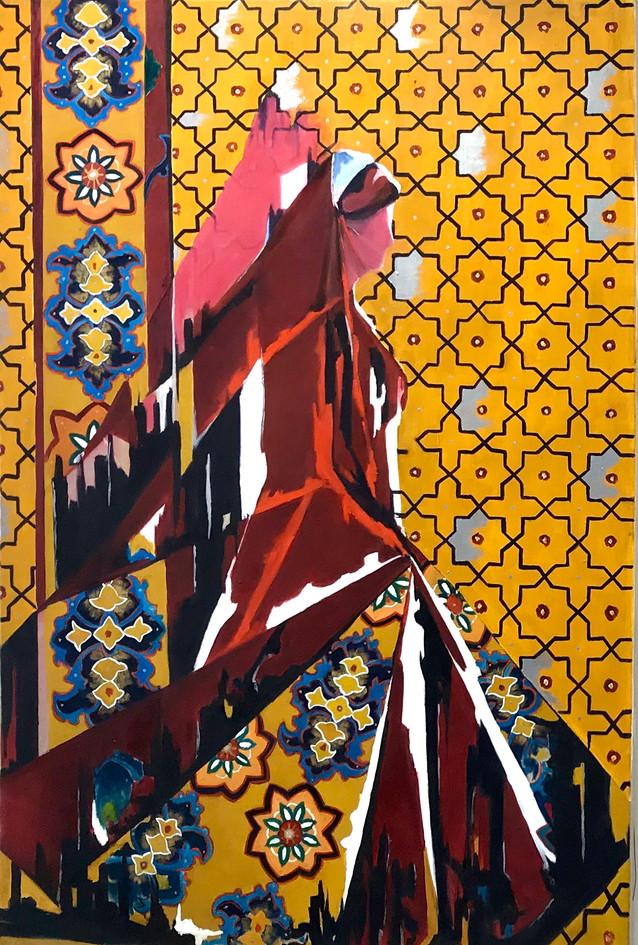 Bakhtiari Woman in contemporary  form, o