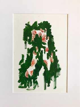 Bakhtiari in Green, Oil on canvas  paper