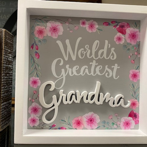 World's Greatest Grandma framed decor