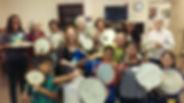 Teens and Seniors Drumming - 6-24-16 St.