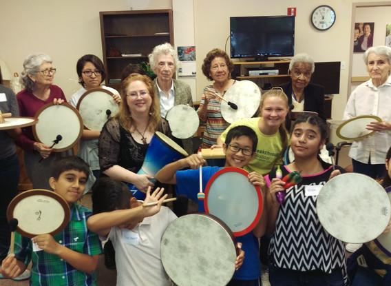 Kids, Teens, and Seniors Drumming