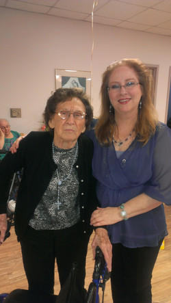 Cindy &ClaraBell 97years old birthday St