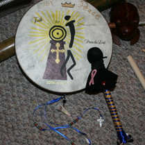 Mom's Healing Drum Creation