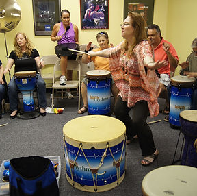 Cindy St. Cyr, Houston Music & Wellness Center, HealthRHYTHMS Drumming, Drumming for Seniors, Drumming in Health Care, Drumming for Health and Wellness, Drumming for Stress Reduction, Team Building with Music, Workplace Wellness, Drum Circle Facilitation Training, Activity Directors, Staff Development Programs, Drumming in Education, Drumming for Healing, Benefits of Drumming, Piano Lessons, Voice Lessons, Music Programs for Homeschool