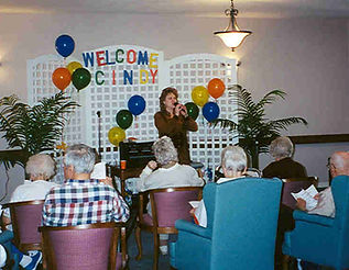 Cindy St. Cyr, Singing for Seniors, Music for Seniors
