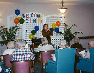 Cindy St. Cyr, Singing for Seniors, Music for Seniors