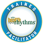 TrainedFacilitatorLogo, HealthRHYTHMS, REMO, Houston Music & Wellness Center, Drum Circle Facilitator, Drumming for Health