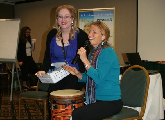 Christine Stevens & Cindy St. Cyr - REMO HealthRHYTHMS Training