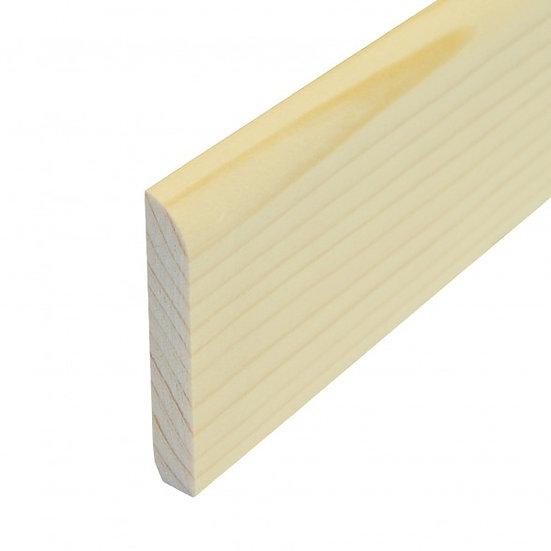 377 Sockelleiste Kiefer lack. 10x60mm Preis/lfm inkl.19% MwSt.