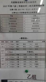 民省許氏公會主辦2017(鄭盛發杯)姓氏篮球锦标賽
