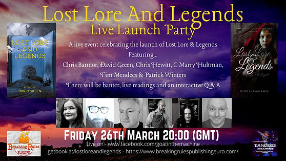 Lost Lore and Legend Online Book Launch.