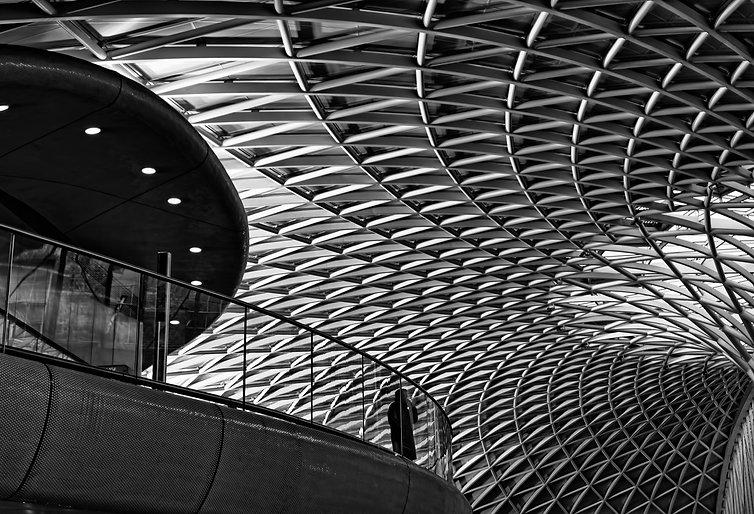 black and white monochrome photograph architecture