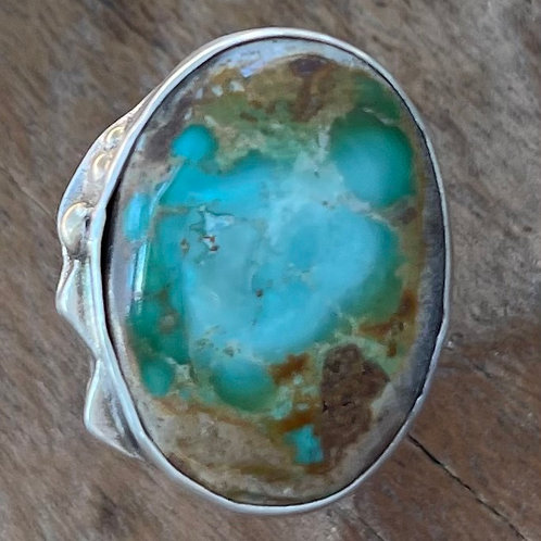 Turquoise& Sterling Silver Ring. Size 9.75