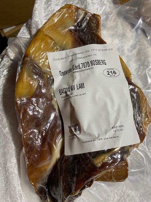 Bacon av lam 250gr. (150-450gr. pakker)